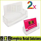 2 X BRAND NEW ACYRIC BUSINESS CARD HOLDERS COUNTER TOP DESK DISPLAY DISPENSERS