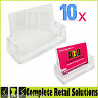 10 X BRAND NEW ACYRIC BUSINESS CARD HOLDERS COUNTER TOP DESK DISPLAY DISPENSERS