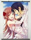 Home Decor Anime Sword Art Online Wall Scroll Poster Kirito & Asuna -086