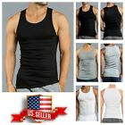 3, 6 PACK T-Shirt Tank Top COTTON A-Shirt Wife Beater Ribbed Fitness Undershirt image