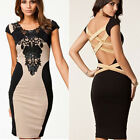 Women Sexy Clothes Slim Lace Party Cocktail Evening Bandage Bodycon Pencil Dress
