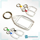 Blank Keyring Keychain Insert Personalised Image (Clear) -Plastic 35x24mm (P502)