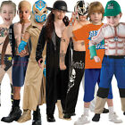Childs WWE Muscle Chest Deluxe Wrestling Fancy Dress New Kids Wrestler Costume