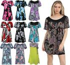 NEW WOMENS LACE SMOCK FLOWER LADIES TOP PLUS SIZE DRESSES SIZE UK 16-26