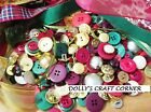 VINTAGE CHRISTMAS  BUTTONS 75 GRAMS BEAUTIFUL PEARL, METALLIC & COLOURED