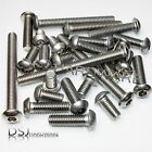 M6 A2 Stainless Steel Hexagon Socket Button Bolts / Allen Dome Head Screws 6mm