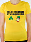 SOLICITOR BY DAY LEPRECHAUN - Irish / Law / Lawyer / Fun Themed Womens T-Shirt