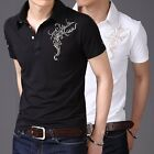 ZD77 New Mens Fashion Vogue Short Sleeve Slim Fit T-Shirt Casual Polo Shirt