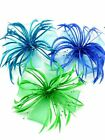 Large Beaded Net Bow Feather Fascinator On Beak Clip Brooch Pin in Range Colours