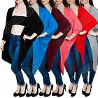New Womens Ladies Batwing Long Maxi Kimono Cardigan Top Size S M L XL 8 10 12 14