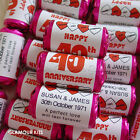 PERSONALISED MINI LOVE HEARTS SWEETS WEDDING ANNIVERSARY PARTY FAVOURS 20-100