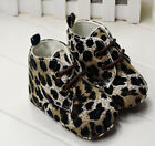Toddler Baby Girl Soft Sole Crib Shoes Leopard Sneaker Newborn-12 Months