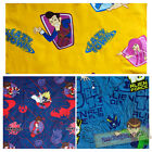 Childrens Cartoon Character Licensed Official Design Kids Fabric Material Craft