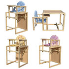 FoxHunter Wooden Baby High Chair Highchair Feeding Seat Table Adjustable Cushion