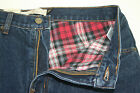 New Lanesboro Mens Red Flannel Lined 5 Pocket Blue Jean Denim YOU PICK SIZE