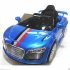 Kids 12v Audi R8 Style Ride on Car - Parent Remote - Black - Blue - Pink - White