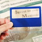 New 3X Card Credit Card Size Reading Glass Magnifying Lens