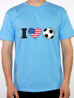 I LOVE FOOTBALL - USA / American / America Flag / Novelty Themed Mens T-Shirt