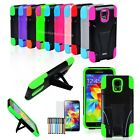 Dual layer Rugged Hybrid KickStand Cover Case For Samsung Galaxy S5 S V 4 Gift