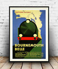 Bournemouth Belle : Old Travel Poster reproduction