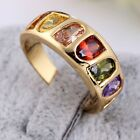 2014 18K Rose Gold GP Colorful Crystals Women Fashion Finger Ring Size 6 7 8 9