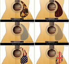 AntiScratch Guitar PickGuard for Acoustic Electric Bass Guitars, Picks Protector