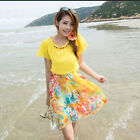 2014 Summer Women's Clothing Seaside Holiday Beach Skirt Bohemian Chiffon Dress