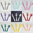 24 ct Premium Plastic Assorted Cutlery Knives Forks Spoons Multiple Colors