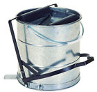 EAGLE II STEEL MOPPING BUCKET, 10 LITRE CAPACITY,FOOT OPERATED WRINGER