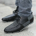 Hot New Men's PU Leather Lace Up Low Flat Heel Driving Moccasins Casual Shoes