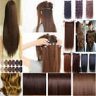 Long New Women clip in Hair Extensions Wavy Curly Straight Synthetic Clip in on