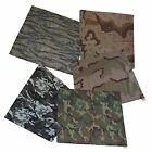 2 Camouflage Bandanna 27 x 27 Traditional Army Camo Two Bandanas 100% Cotton NEW