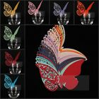 10 pcs Decoration For Wine Glasses Name Card Butterfly Pattern Wedding W1014 IDE