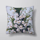 Vintage Flowers  Personalised Cushion Fabric Panel Or Case or with Filling