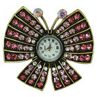 WOMEN TV SHOW STAGE PROPERT MUTICOLOR RHINESTONE BUTTERFLY RING WATCHES