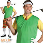 Golf Guy Fancy Dress Pub Golf Sports Golfer Uniform Costume Adult Outfit + Hat