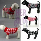 Pet Dog Puppy Sweater Clothes Apparel Autumn Winter For Teddy Poodle Bichon