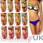 UK Beach Bandage Strings Halterneck Style Top Bikini Set Swimwear Padded