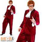 1960s Gigolo Mens Austin Powers Swinging 60s Fancy Dress Party Adults Costume