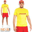 Lifeguard Mens Uniform Fancy Dress Adults Beach Patrol Womens Costume 90s Outfit