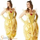 Ladies Belle Beauty & The Beast Disney Fancy Dress Costumes Halloween Outfit
