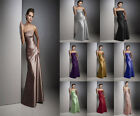 Satin Formal Prom/Bridesmaid Cocktail Party Evening Dress Size 4-18 In Stock