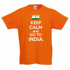 KEEP CALM AND GO TO INDIA - South Asia / Fun / Novelty Children's Themed T-Shirt