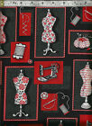 HENRY GLASS - 'And Sew On' by Fresh Designs - Sewing Related Fabric -100% Cotton