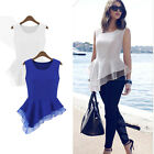 Summer Women's Fashion Casual Blouse Top Fashion Chiffon Shirts Outing Wear Suit