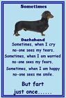 Dachshund - NEW - Set of 9 flexible magnets FREE UK pp