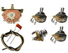 Deluxe Stratocaster Strat Wiring Kit  - CTS pots, Orange Drops, Oak 5-way Switch