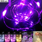 BYB 20/40 LEDs Battery Operated Micro Silver Wire String Fairy Xmas Party Lights