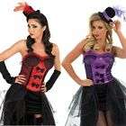 Ladies Burlesque Costume – Womens Moulin Rouge Dancer Fancy Dress Outfit
