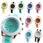 Candy Color Rubber Silicone Quartz Wrist Watch Fashion Men's Women's Jelly Watch